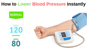 How to lower blood pressure instantly